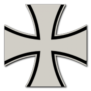 German Cross 2 color Decal