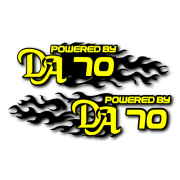 Powered by DA Flame LR 70 Decal