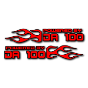 Powered by DA Flame LR 100 V2 Decal