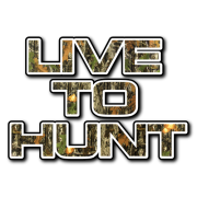 live to hunt text Decal