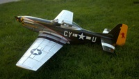 Aeroworks P51 Mustgang with gunfighter graphics.