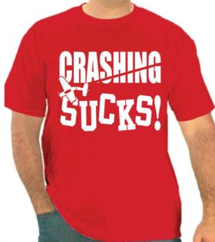 crashing sucks tee