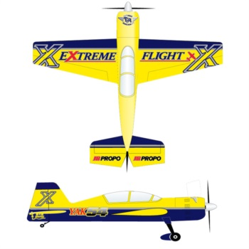 Extreme Flight Yak X Package Yellow